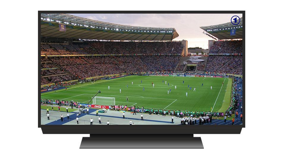 football à la télé